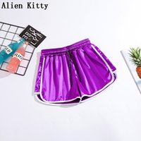 Alien Kitty Taille élastique Femmes Femmes Loos Sports Summer Europe Shorts Sexy Dame Casual Casual Court 5 couleurs Plus Taille S-5XL