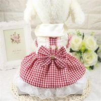 Ropa de perro ropa de verano mascota titu tutu vestido chihuahua cachorro ropa de boda perros pequeños gato dulce princesa vestidos mascotas