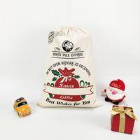 70 * 50см украшения вечеринки рождественские подарочные мешок рождественские элементы пикап грузовик дерево Christma сумки из чистого хлопка луча рот конфеты кармана