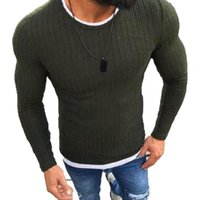 Men's Sweaters Autumn Winter Men Knitted Pullover Casual Round Neck Slim Male Sweater Outerwear Top Knitwear 2021