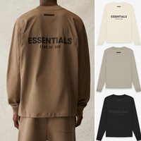 21SS Back Silicon Logo Maniche lunghe T-shirt Casual Oversize Cotton Jersey Tee T Shirt Uomo Donna Hip Hop Streetwear MG210045