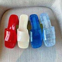 Vendita diretta della fabbrica Pantofole da donna di alta qualità! Fashion Jelly Color Transparent PVC Scivolo morbido e comodo sandali per il bagno interno del tacco da spiaggia 5,5 cm