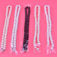 8mm 유리 모조 진주 초커 목걸이 여성 간단한 쇄골 구슬 체인 보석 액세서리 판매 공장 직접