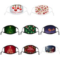 2022 masks designer cotton Black Red face mask printed Green Christmas tree dustproof windproof adjustable winter Party facemask