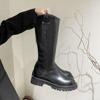 Boots Fashion Woman Non-slip Waterproof Winter Botas Zipper PU Leather Knee High Women Platform Long Zapatillas Mujer
