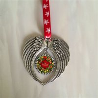 decorations shape sublimation angel wings christmas ornament blank hot transfer printing consumables supplies new style wholesales