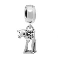 Çaydanlık Ücretsiz Kargo MOQ 20 ADET Gümüş Tavşan Mouse Charm Boncuk Fit Orijinal Pandora Bilezik Takı DIY Kadınlar için J008