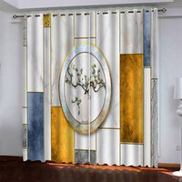 High Quality 3D Curtains Window Blackout Living Room Photo Curtains Blackout Modern Fashion Room Curtain Drapes