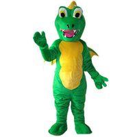 Halloween Dinosaurier Maskottchen Kostüm Hohe Qualität Cartoon Tier Anime Thema Charakter Weihnachten Phantasie Party Kleid Karneval Unisex Erwachsene Outfit