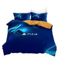 Yatak Takımları Ev Tekstili Baskılı 3D Set Playstation 4 Joystick Gamepad Nevresim Yastıklar Twin Tam Kraliçe Kral Yatlıklar
