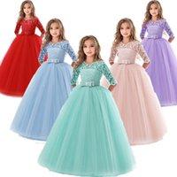 Kids Bridesmaid Flower Girls Wedding Kids Dresses For Girls Evening Party Dress Teenage Children Princess Dress 8 10 12 14 Years 210226