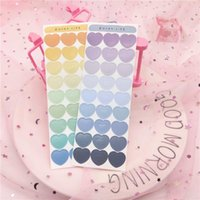 54pcs / pacote de moda coração amor doces adesivo colorido diy artesanato scrapbooking journal planejador adesivos decorativos