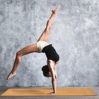 Mantar Yoga Mat Doğal Kaymaz Halı Mat Acemi Spor Jimnastik Pilates Paspaslar Kaymaz Egzersiz Seyahat S7YK #