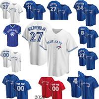 4 George Springer TorontoBleuJays Jersey 11 Bo Bichette 27 Vladimir Guerrero Jr. 8 Cavan Biggio 29 Joe Carter Baseball Custom