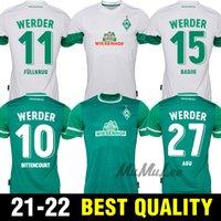 2021 2022 Werder Brema Soccer Jerseys Fullkrug Eggestein Osako Camicia da calcio Bittcourt Raska Klaassen Uniforme
