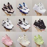 2021 Niños Zapatos de baloncesto para niños Sports Sports Red Chicago 4s Boy Girls Basket Ball Pour Enfants Athletic Sneakers Tamaño 22-35