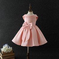 Kızlar Elbiseler Çocuk Giyim Çocuk Giyim Prenses Çiçek Düğün Ilmek Akşam Rhinestone Doğum Günü Örgün Elbise B7742