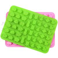 2021 bonitos animais estranhos diy fudge silicone moldes biscuit moldes de chocolate mini cozimento moldes de silicone DHL frete grátis