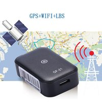 Mini GPS Car Tracker App Anti-Lost Device Voice Control Recording Locator High-definition Microphone WIFI+LBS+GPS wholesale GF21