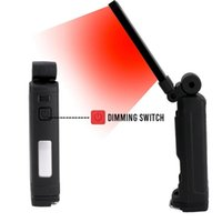 LED portatile lanterna di 180 ° luce di lavoro girevole 4 modalità torcia da campeggio all'aperto campeggio leggero magnete magnete lampada di emergenza