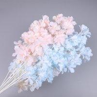 Seda gypsophila artificial flores para decoração casa plástico stem noiva casamento buquê de casamento mariagem flor de cereja flor falsa diy