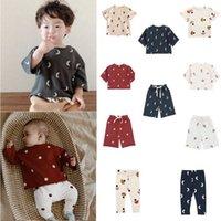 Çocuklar T-Shirt OZ Marka 2021 İlkbahar Yaz Yeni Tasarım Erkek Kız Moda Nokta Baskı Pantolon Bebek Çocuk Pamuk Sevimli Kıyafetler Giysi P0831