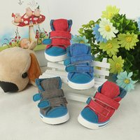 Dog Apparel Shoes Canvas & PU Winter Shoe For Medium Large Dogs Footwear Wear-resistant Puppy XS-XL Pet Product
