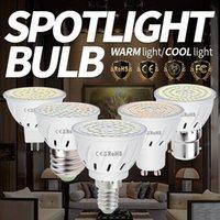 Bulbos E27 LED Bulbo 220V Bombillas E14 Spotlight 2835 Mr16 Lâmpada 48leds 60leds 80leds B22 Light for Home Quarto Banheiro