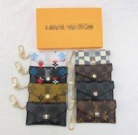 최고의 고품질 단일 지갑 지갑 카드 소지자 프랑스 파리 격자 무늬 스타일 luxurys 망 지갑 여성 지갑 하이 엔드 Luxurys 디자이너 지갑