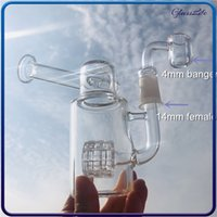 4.5 Inch Heady Glass Bong Matrix Percolator Bongs Recycler Oil Rig with 14mm Female Joint Quartz Banger Nail Water Pipe Fre Shipping