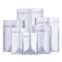 Aluminiumfolie platta botten dragkedja påsar tjock mat förvaring väska vakuum förseglare matförpackning te undvika ljus bevis