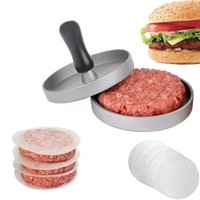 Hamburger Pressure Kitchen DIY Mold Aluminum Alloy Hamburg Pressing Machine Meat Maker With Plastic Handle MY-inf0346 34 V2