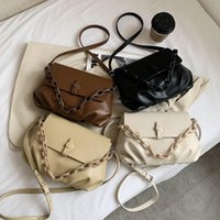 Totes 2021 Solid Color Fashion Shoulder Handbags Female Travel Cross Body Bag Weave Small PU Leather Crossbody Bags For Women