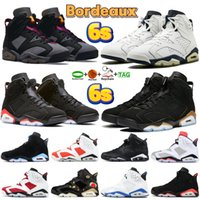 Hohe Qualität 6 Männer Basketballschuhe Bordeaux Midnight Navy Cactus Britisch Khaki Electric Green 6s DMP Black Cat Infrarot Unc University Blue Sport Trainer