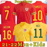 2021 Galler Futbol Formaları Ev Uzakta Balya James Wilson 21 22 Ramsey Erkekler Çocuklar Maillot de Futbol Gömlek Allen Vokes Camiseta Futol Üniforma Hayranları Sürüm
