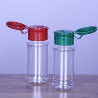 Bottiglie di spezie di plastica vuote impostato per la conservazione del peperoncino del condimento del BBQ, bottiglie glitter shakers 60 ml / 2 oz