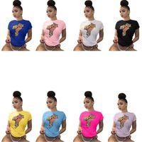 Femmes été t-shirts t-shirts dollar imprimé mode tendance rue street t-shirt tops concepteur femme couleur solide t-shirts vêtements décontractés