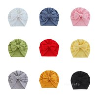 Solid Knot Turban Hats for Baby Boys Girls Beanies Newborn hat Bonnet Toddler 0-4T Headwraps T2I52799