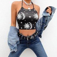 Women's Tanks & Camis Print Crop Tops For Women Summer Halter Shirt Sleeveless Short Camisole Slim And Ladies