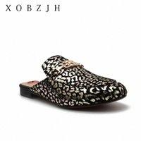 الصيف الشقق البغال أحذية النساء النعال 2020 في الهواء الطلق النعال ليوبارد حجر الراين أحذية امرأة زائد الحجم 11 M5F3 #