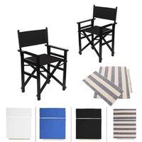 Chaise Couvre 4pcs Directeur Remplacement Toile en toile en 4 couleurs Jardin Ensemble d'extérieur pour Cool (Chaise non incluse)