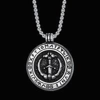 Cool antico ancore pendenti 316 acciaio inox round disco viking amuleto mens ancore collane regali gioielli alla moda