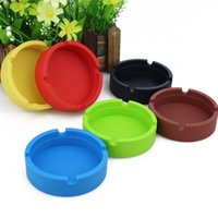 Silicone Round Ashtray Portable Rubber Durable High Temperature Heat Resistan Soft Eco-Friendly Tray Holder WLL179