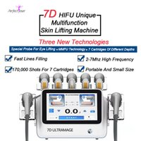 المحمولة Ultramage 7D 3D ترقية hifu الجمال مكافحة التجاعيد الجلد تشديد صالون المنتج سبعة مقابض 170،000 طلقات