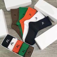 Fashional Herren Frauen Designer Sports Socken mit Buchstaben One Box 5 Stück Männer Frauen Strümpfe Hohe Qualität Sport Socken Strumpf 10 Farben