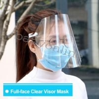 Wholesale máscara protectora adulta cubierta a prueba de polvo escudo de cara transparente mascarillas de cara completa anti-polvo respirador libre barco elástico mascherine