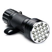 الأرجواني 395NM 21 LED UV فائقة البنفسجي مضيا الشعلة مصباح ضوء مصغرة المحمولة blacklight مصابيح غير مرئية