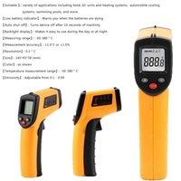 Thermomètres ménagers Température Non-Contact Température GM320 LCD Display -50 ~ 380 degrés Handheld Digital IR Thermomètre Pistolet à point laser pour l'industrie