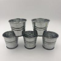 D5XH4cm 도매 작은 금속 컵 사탕 상자 미니 보육 냄비 DIY 아연 도금 즙이 많은 Planter 웨딩 파티 호의 홀더 공예