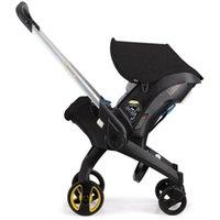 Porta a porta 4 em 1 carrinho com assento de carro Bassinet para carrinho de bebê recém-nascido dobrável passeio no carro